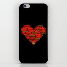 Book Love iPhone Skin
