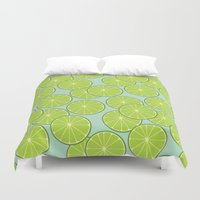 lime Duvet Covers featuring lime by Tanya Pligina