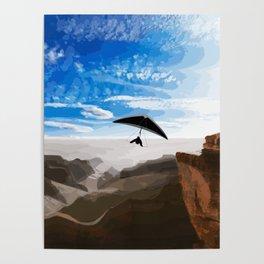 Hang gliding Poster