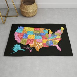 This land is your land typography map Rug