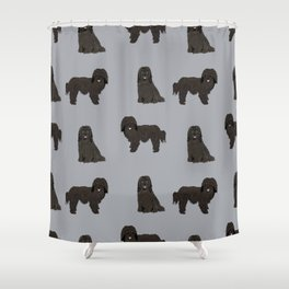 Havanese black coat dog breed gifts pure breed must haves Shower Curtain