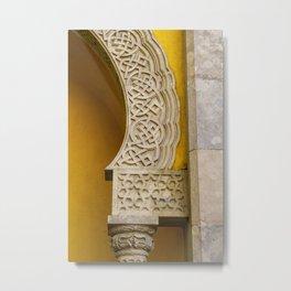 Yellow Arch Metal Print