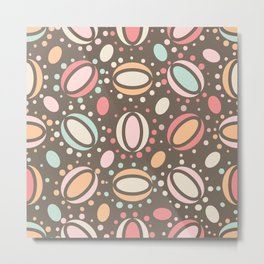 Retro pattern. Beans. Metal Print