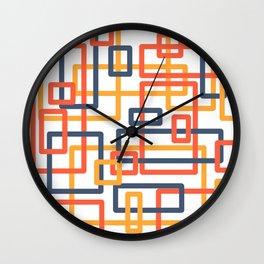 Railroad orange Wall Clock
