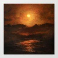 sunset Canvas Prints featuring Sunset by Viviana Gonzalez