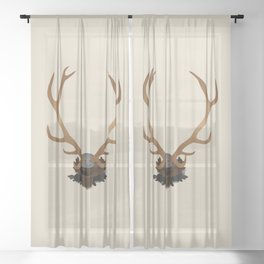 Antlers Sheer Curtain