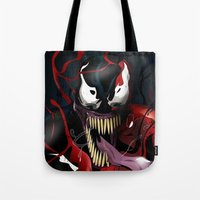 carnage Tote Bags featuring Maximum Carnage by JHC Studio