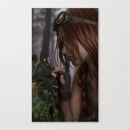 While Exploring Canvas Print