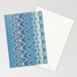 Indian pattern in blue Stationery Cards