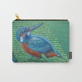 Kingfisher & Code (I KNOW It Means SOMEthing...) Carry-All Pouch