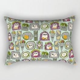 veggie sushi mint Rectangular Pillow