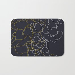 Pure poetry and some flowers Bath Mat
