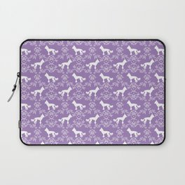 Chinese Crested dog silhouette floral dog breed florals unique pure breed gifts Laptop Sleeve