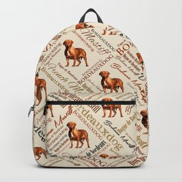 Dogue de Bordeaux Word Art Backpack