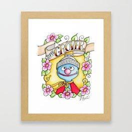 Super Grover Framed Art Print