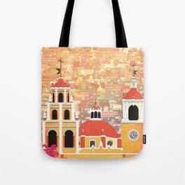 Mexico Guanajuato Travel Poster Tote Bag