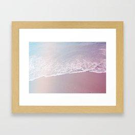 pastel beach #society6 #decor #buyart Framed Art Print