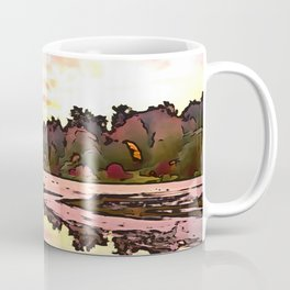 The Salmon Lake. (Painting) Coffee Mug