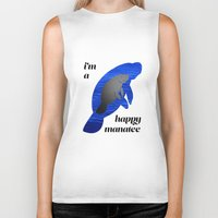 manatee Biker Tanks featuring manatee by Bryce Castille Media