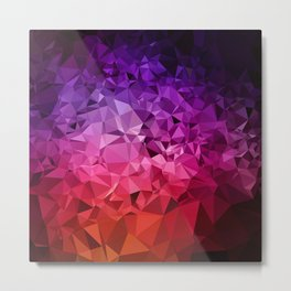 Ultra Violet Diamond Rainbow Metal Print
