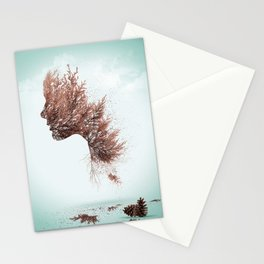 Face of nature Stationery Cards