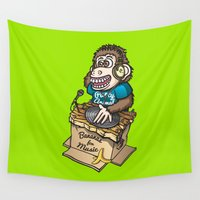 ape Wall Tapestries featuring DJ Ape by Leon-Design