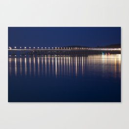The River Tay at night Dundee Canvas Print
