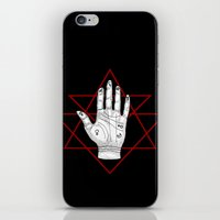 astronomy iPhone & iPod Skins featuring Astronomy Palm by alesaenzart