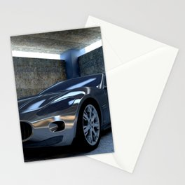 Sports car Stationery Cards