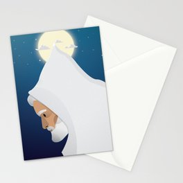 Walking under the moon Stationery Cards