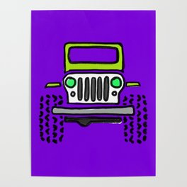 Jeep 'Drawing' PURPLE Poster
