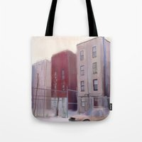 brooklyn Tote Bags featuring Brooklyn by Ross Burnham
