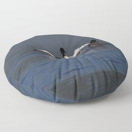 loon wave Floor Pillow