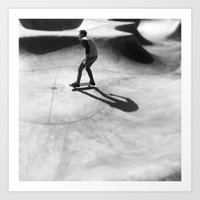 skateboard Art Prints featuring #Skateboard by Yancey Wells