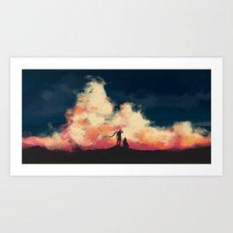 Howls of the Breeze Art Print