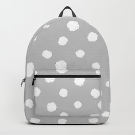 Hand-Drawn Dots (White & Gray Pattern) Backpack