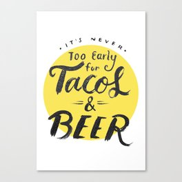 Tacos & Beer Canvas Print