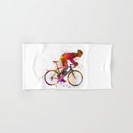 cyclist road bicycle Hand & Bath Towel