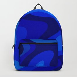 Blue Abstract Art Colorful Blue Shades Design Backpack