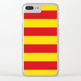 Catalan Flag - Senyera - Authentic High Quality Clear iPhone Case