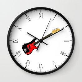 Fretless Bass Guitar Wall Clock