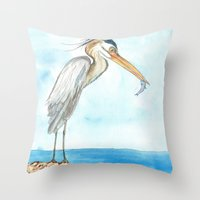 harry Throw Pillows featuring Harry by Catherine Holcombe
