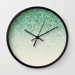 Ombre Watercolor Triangle Pattern (Green) Wall Clock