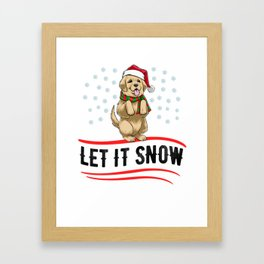 Christmas Let It Snow Framed Art Print