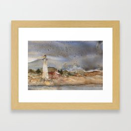 Menagerie Island Lighthouse Framed Art Print
