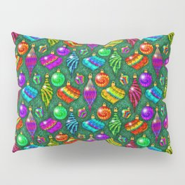 Tie Dye Holiday Ornaments Pillow Sham