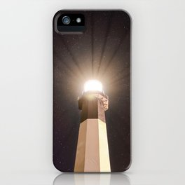 Tybee Lighthouse Under the Stars iPhone Case