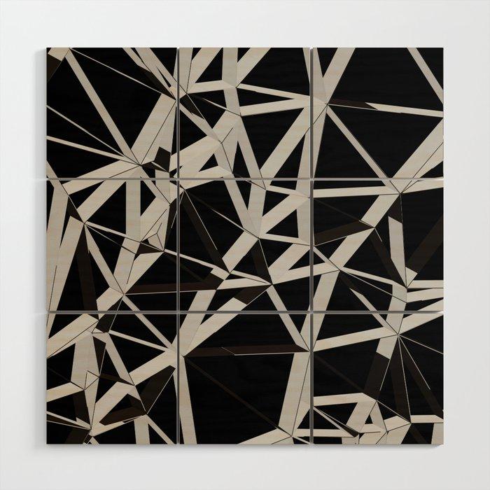 3d Futuristic Geo Lines V Wood Wall Art By Creativebd