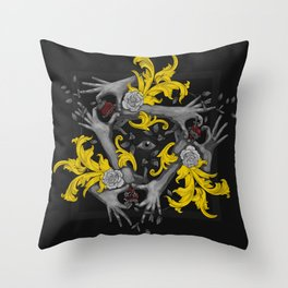 Hands and Hearts Throw Pillow