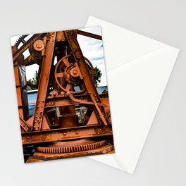 The Old Rusty Ship Crane Stationery Cards